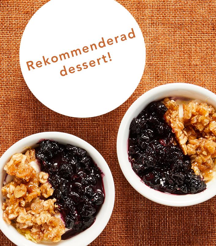 gratis-efterrätt-med-höstbuffén-är-Syltade-blåbär-med-citruskryddad-färskostcrème